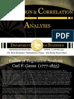 Statistics Regression & Correlation Analysis