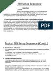 Typical EDI Setup Sequence