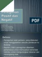 Peneguhan Positif Dan Negatif