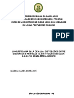 Izabel Maria de Matos-Monografia sobre Linguística