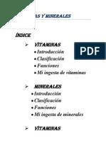 minerales y vitaminas