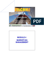 Module 4 - Marketing Management - Mba Crash Course