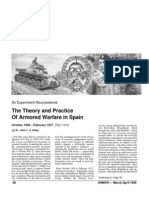 The Theory and Practice of Armored Warfare in Spain Part.1