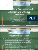 Presentación sobre Módulo Educativo -  Desarrollo y crecimiento de la niñez
