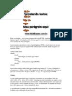 Format an Do Textos Com HTML