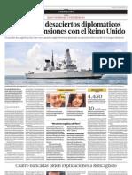 Una suma de desaciertos diplomáticos generaron tensiones con el Reino Unido