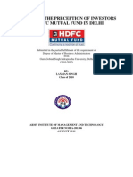 A Study of the Precept Ion of Investors of Hdfc Mutual Fund in Delhi-1