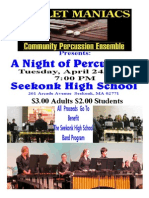 Mallet Maniacs Community Percussion Ensemble Seekonk High School Band Benefit Concert