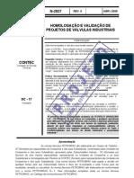 N-2827 - Homologacao e Validacao de Projetos de Valvulas is