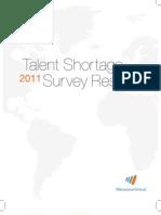 2011 Talent Shortage Survey US