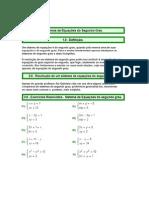 equaçoes de 2 grau