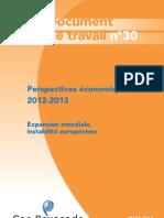 Perspectives Economiques 2012 2013 Coe Rexecode