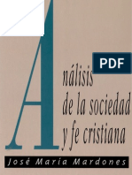 (Mardones) Análisis de la Sociedad y Fe Cristiana