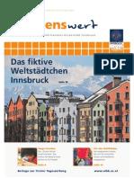 wissenswert 18 - Magazin der Leopold-Franzens-Universität Innsbruck