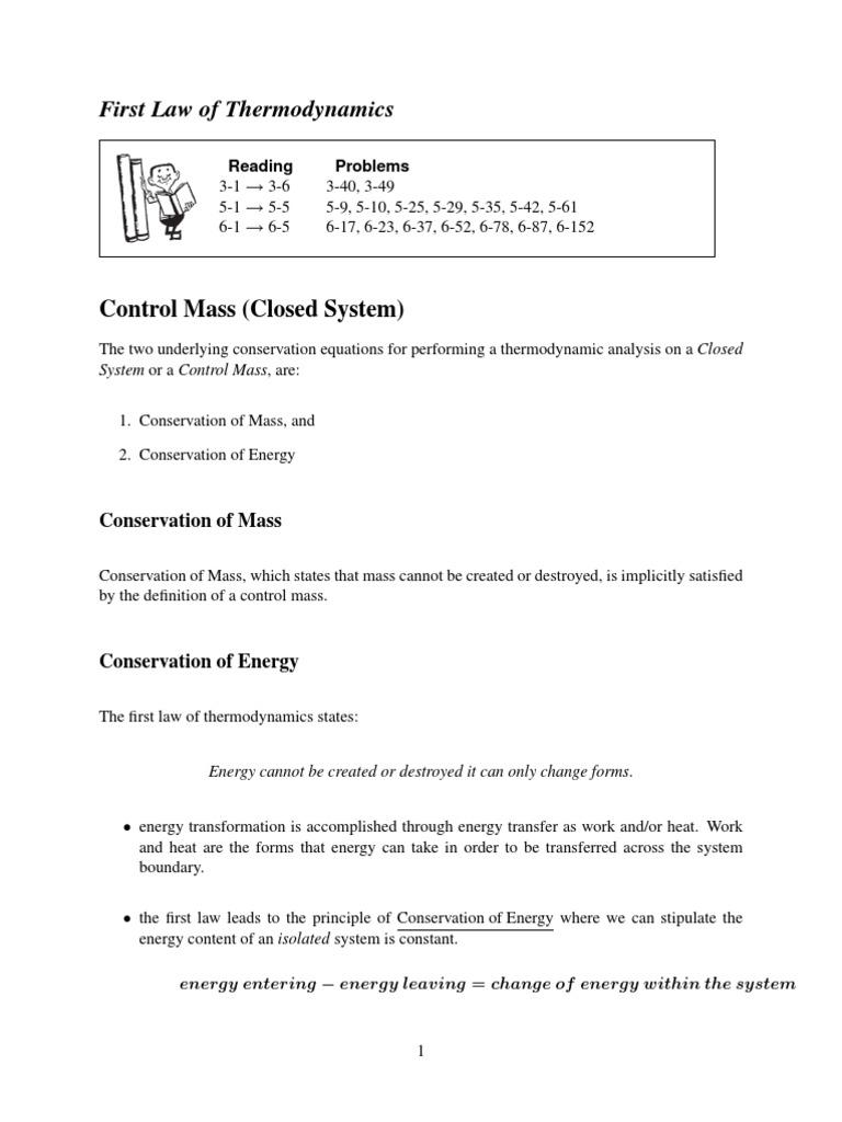 control mass | heat | fluid dynamics