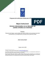 Mapeo Institucional - Actores relacionados con el abordaje del cambio climático en Colombia