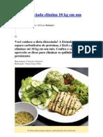 Dieta dissociada elimina 10 kg em um mês