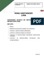 Expediente Tecnico Integral Instalaciones Camp Amen To Minero
