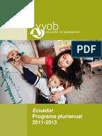 Ecuador Programa Prurianual 2011 2013_ecuador