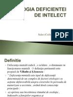 Etiologia Deficientei de Intelect