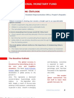 China Economic Outlook - By IMF, 6 Feb 2012