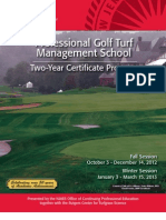 Rutgers Professional Golf Course Turf Management School 2 Year Certificate