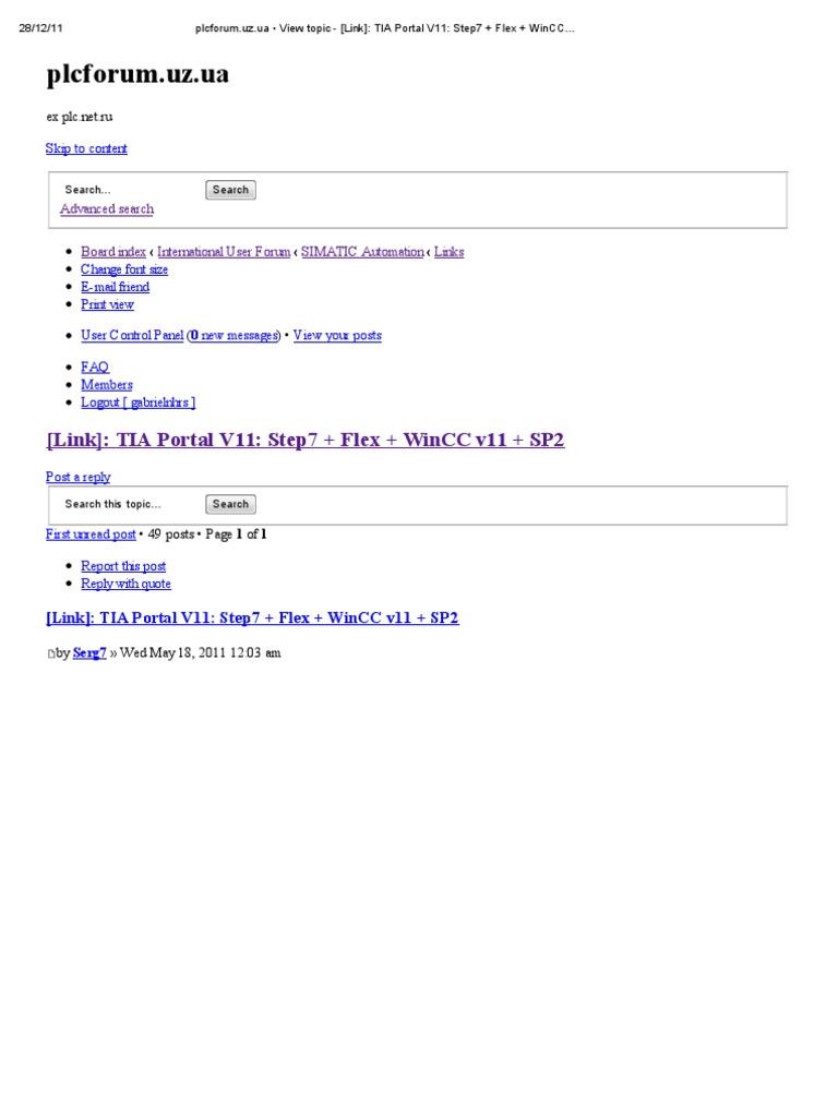 😍 Tia portal v11 sp2 trial download | TIA Portal V14 SP1 Released