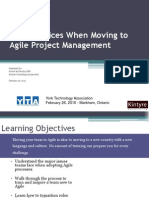 Best Practices When Moving to Agile Project Management