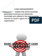 Cash Management Ppt