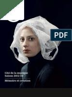 Brochure Cité de la Musique - Paris 2012/2013