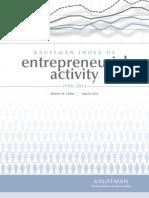 Kauffman Index of Entrepreneurial Activity, 1996-2011