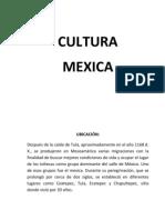 CULTURA mexica