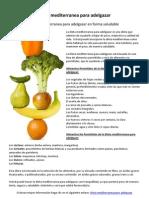 Recetas semanales dieta mediterranea
