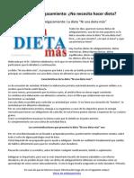 Dietas de adelgazamiento