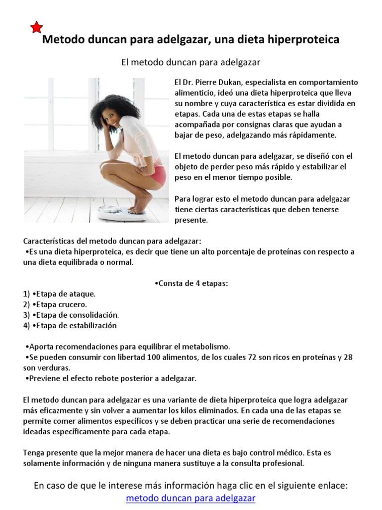 recomendaciones para pérdida de peso