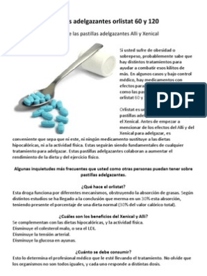 pastillas para adelgazar orlistat 60 dias