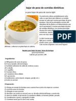 Resetas para bajar de peso de comidas dietéticas