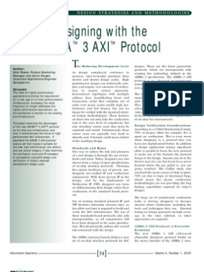 Paper on AXI | Communications Protocols | System On A Chip