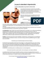 Tratamiento para la obesidad e hipertensión