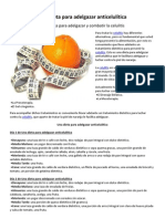 Una dieta para adelgazar anticelulítica