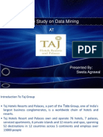 Data Mining at Taj