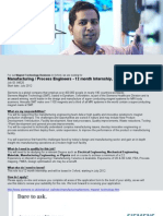 Process Engineer Internship Jan 2012