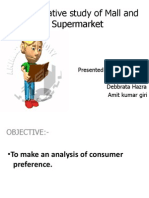 Comparative Study of Mall and Supermarket