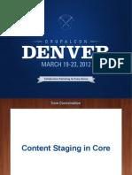 Dixon Content Staging CoreConversation-Denver-2012
