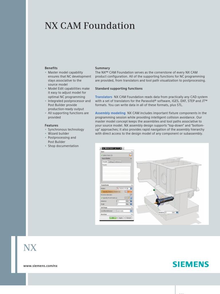 Siemens PLM NX CAM Foundation Fs X19 | Computer Aided Design
