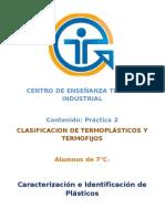 Clasificacion de Termoplastics y Termofijos