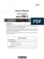 Rm2 Owners Manual