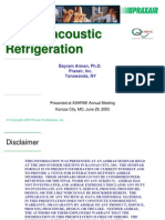 ThermoAcoustic Refrigeration - Annual 2003 Arman