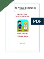 proyecto ARTICULACION DE 1º CON JARDÍN