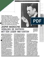 Jasper Maskelyne, die de duitsers belazerde in de 2e wereld oorlog als googelaar